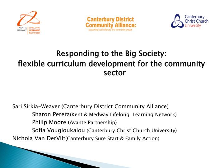 Responding to the Big Society: