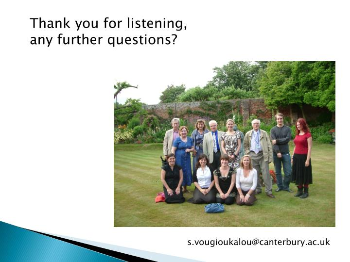 Thank you for listening,