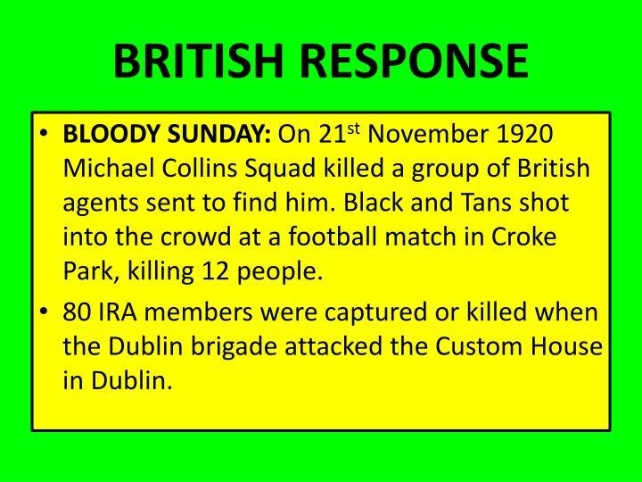 BRITISH RESPONSE