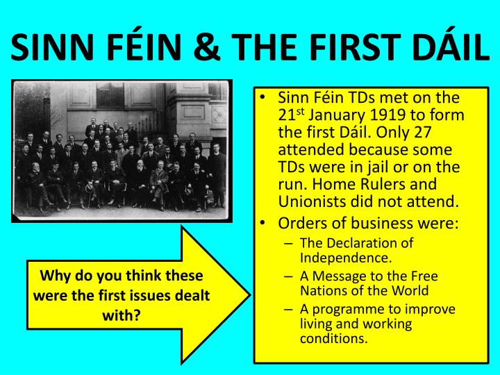 SINN FÉIN & THE FIRST DÁIL