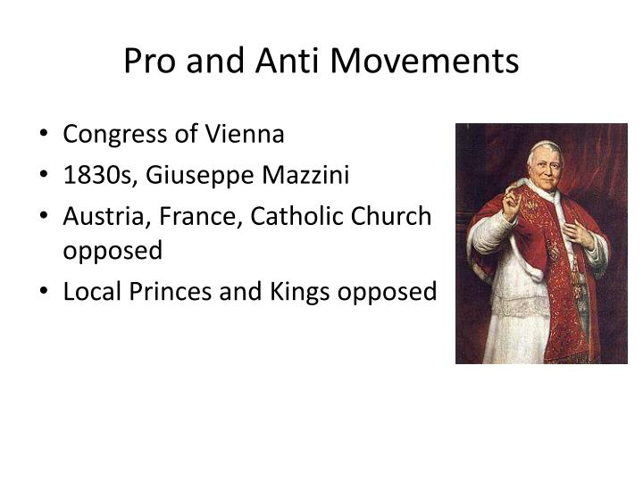 Pro and Anti Movements
