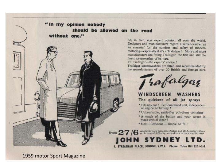 1959 motor Sport Magazine