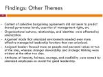 findings other themes