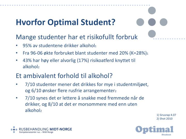 Hvorfor Optimal Student?