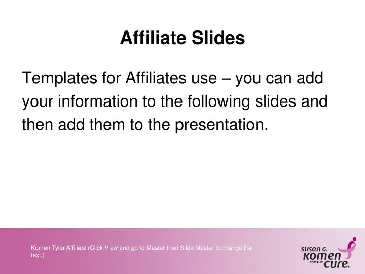 Affiliate Slides