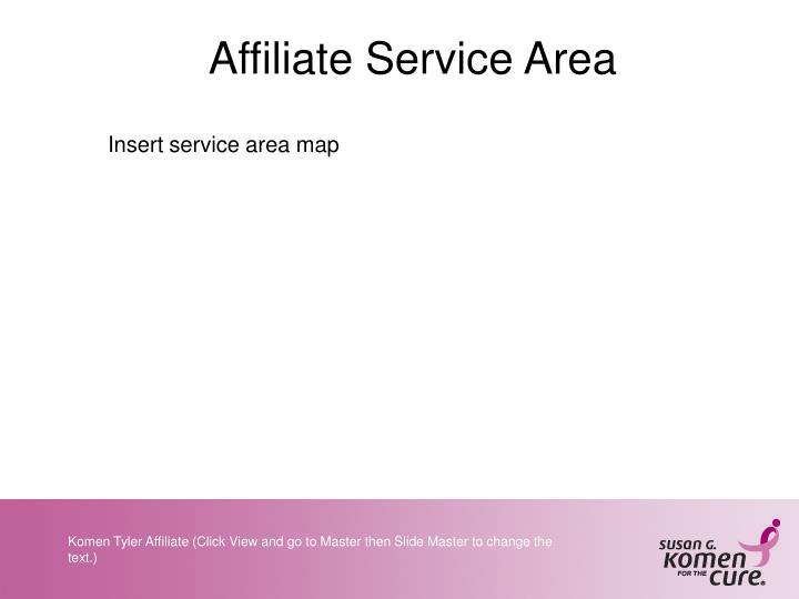 Affiliate Service Area