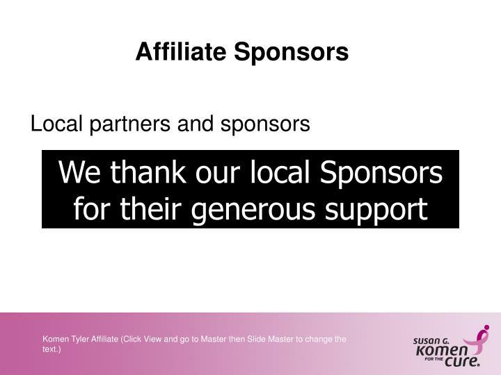 Affiliate Sponsors