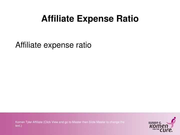 Affiliate Expense Ratio