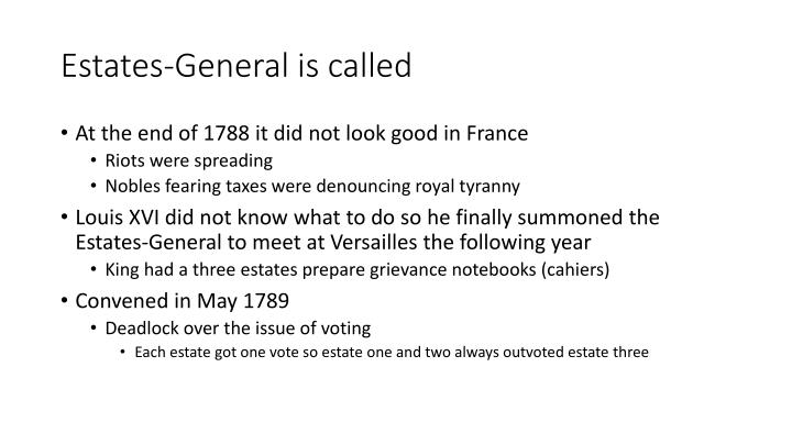 Estates-General is called