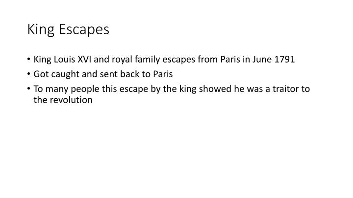 King Escapes