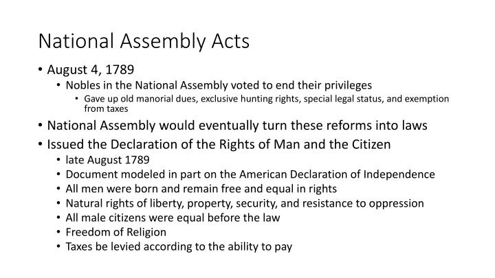 National Assembly Acts