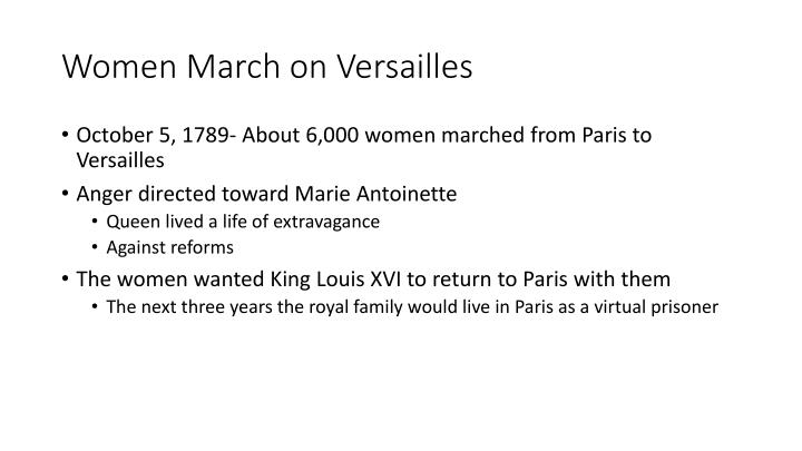 Women March on Versailles