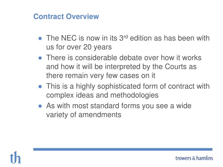 Contract overview