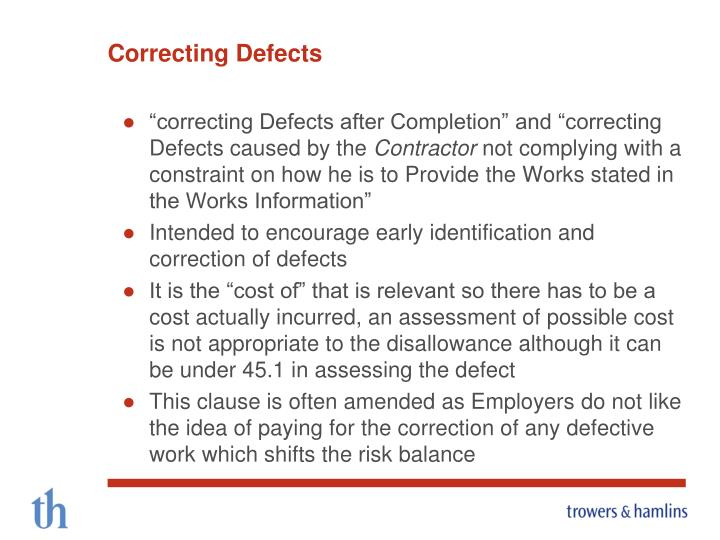 Correcting Defects