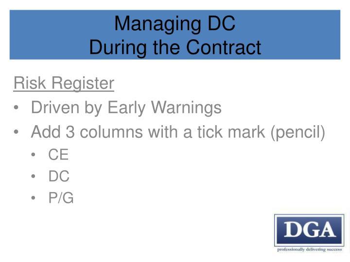 Managing DC