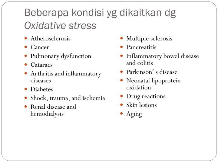 Beberapa kondisi yg dikaitkan dg