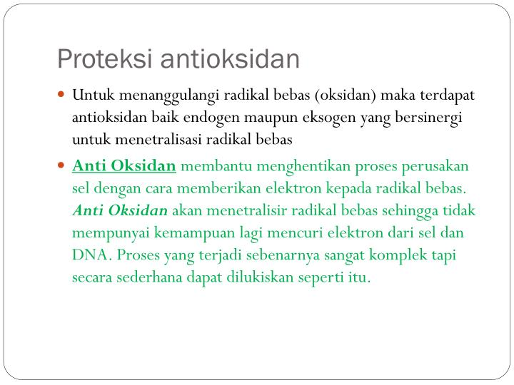 Proteksi antioksidan