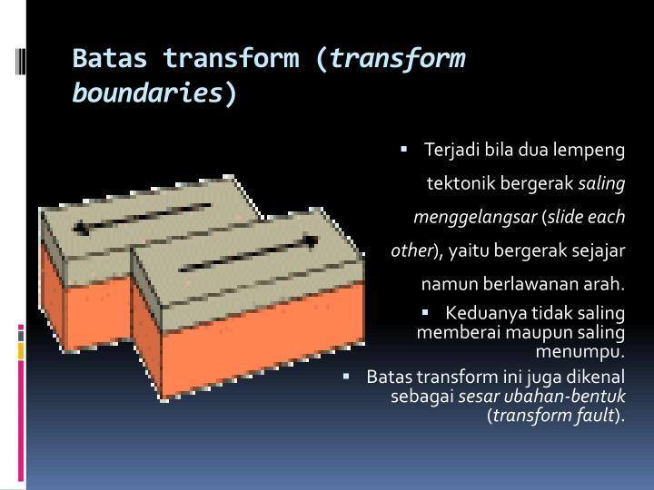 Batas transform (