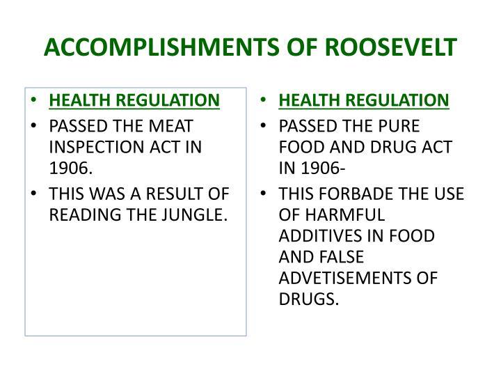 ACCOMPLISHMENTS OF ROOSEVELT