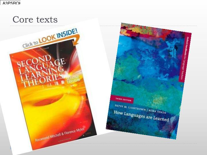 Core texts