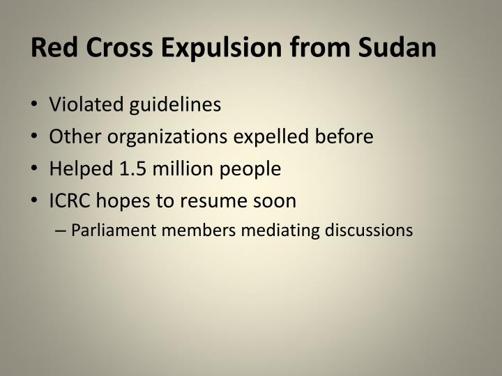 Red cross expulsion from sudan
