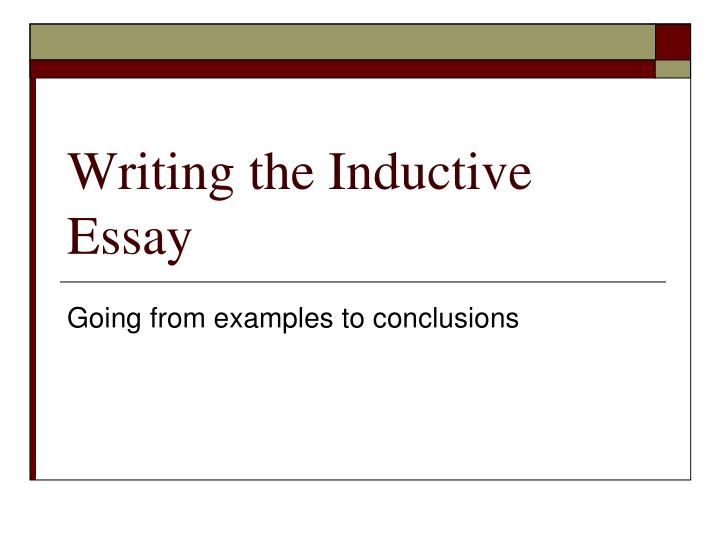 inductive essay structure