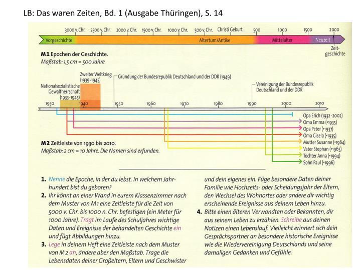 LB: Das waren Zeiten, Bd. 1 (Ausgabe Thüringen), S. 14