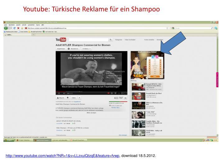 Youtube: Türkische Reklame für ein Shampoo