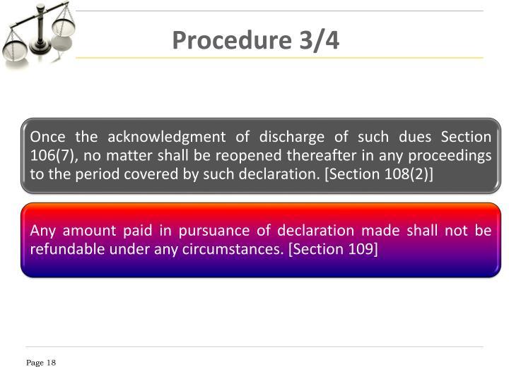 Procedure 3/4