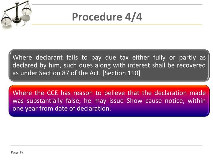 Procedure 4/4