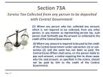 section 73a service tax collected from any person to be deposited with central government1