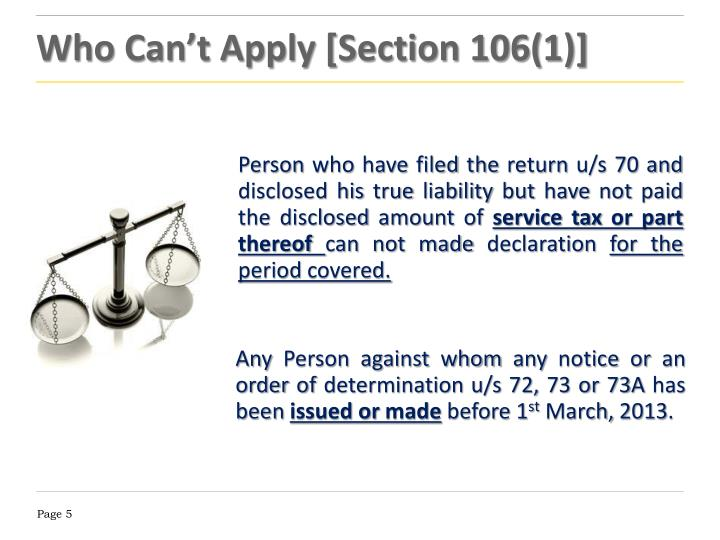 Who Can't Apply [Section 106(1)]