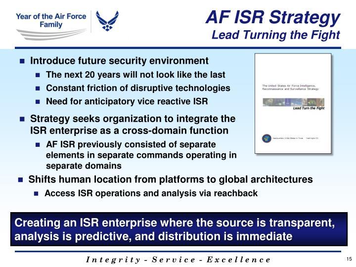 AF ISR Strategy