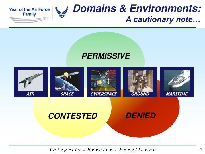 Domains & Environments: