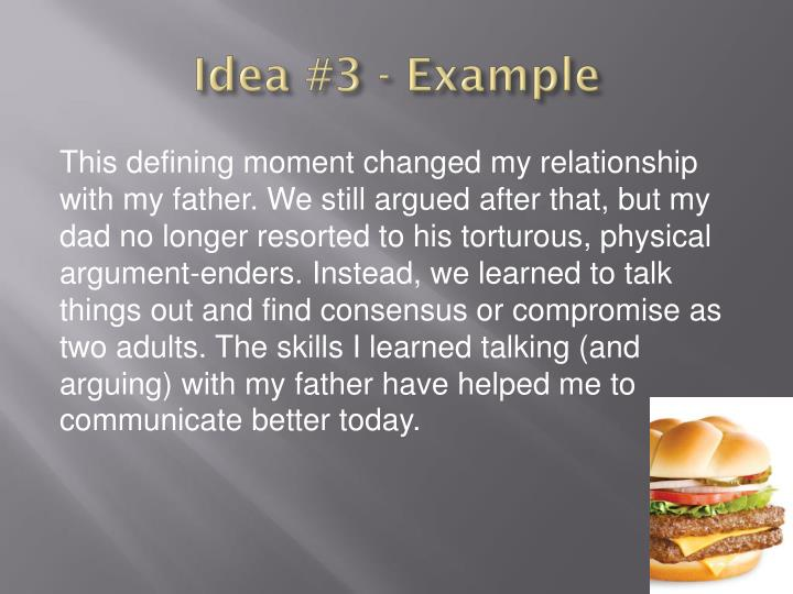 Idea #3 - Example
