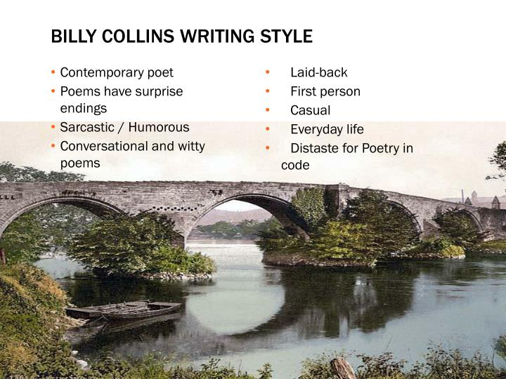 Billy collins writing style