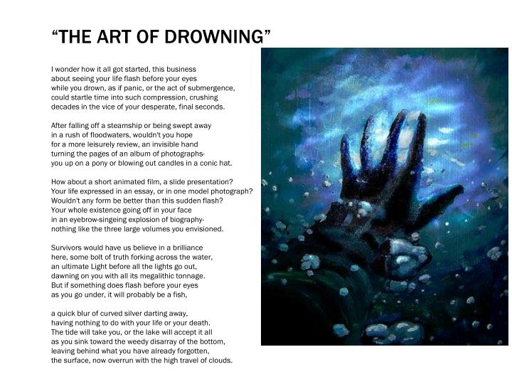 """The Art of drowning"""