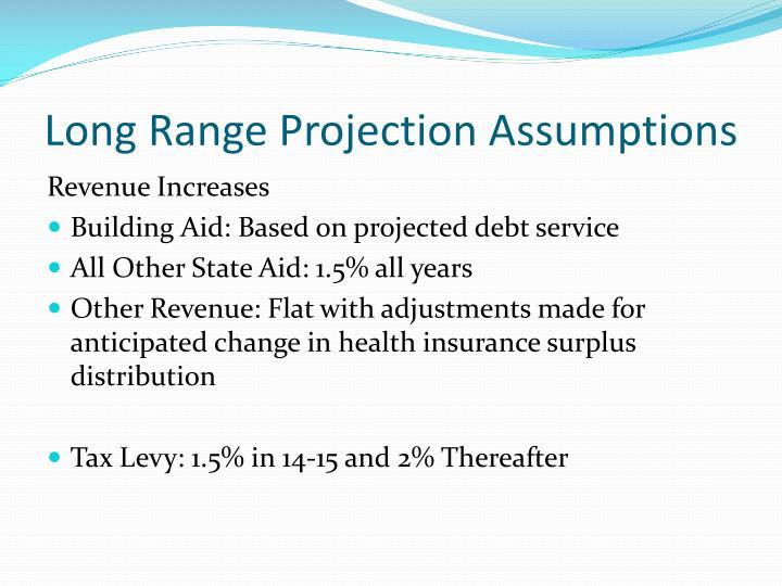 Long Range Projection Assumptions