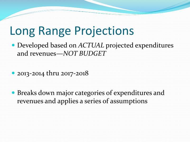 Long Range Projections