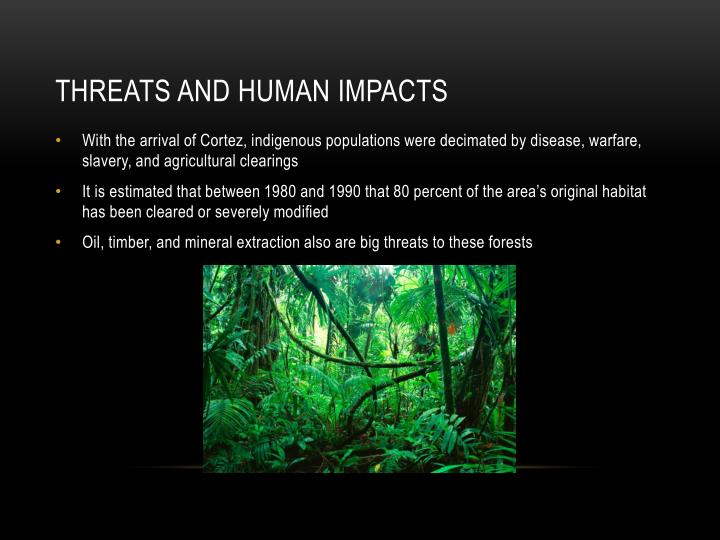 Threats and Human impacts