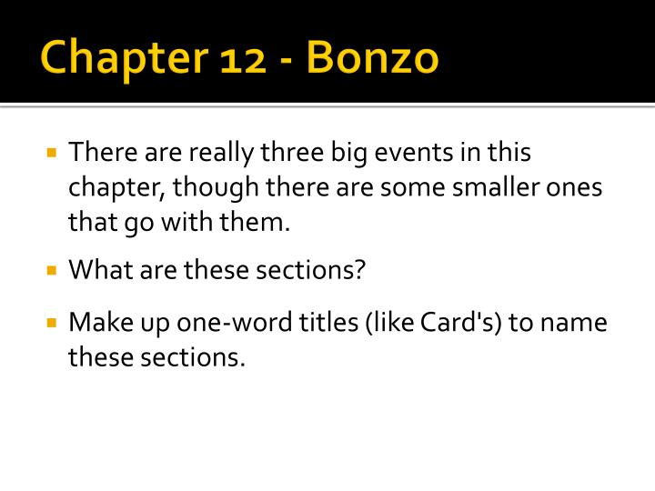Chapter 12 bonzo