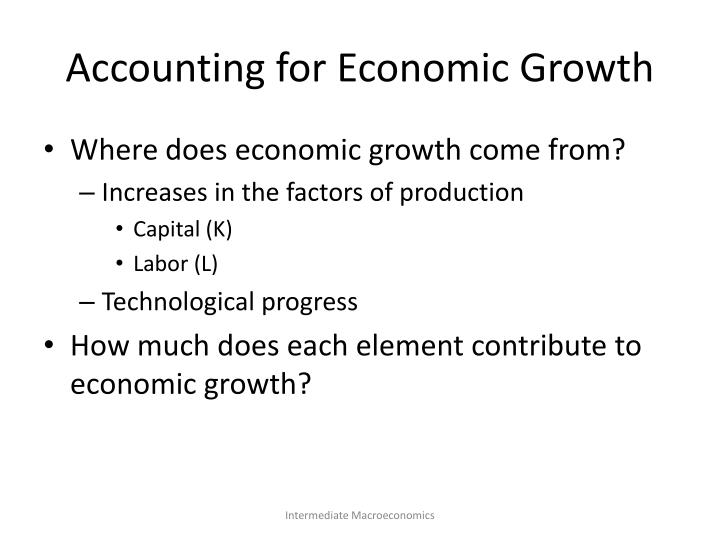 Accounting for Economic Growth