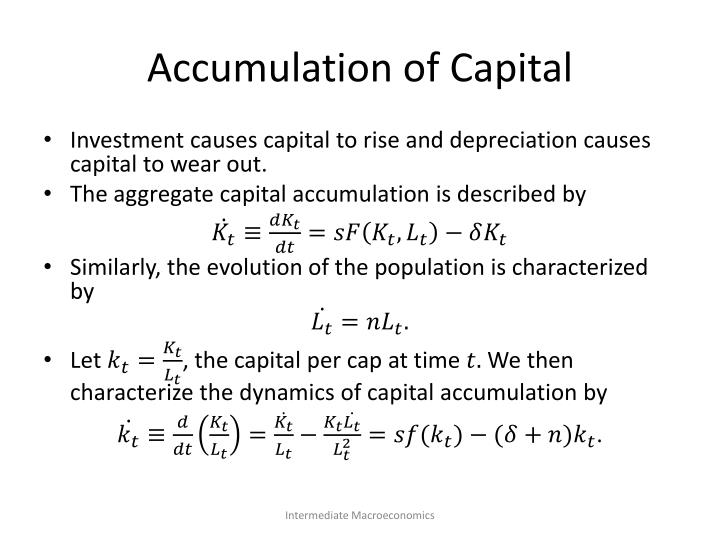 Accumulation of Capital
