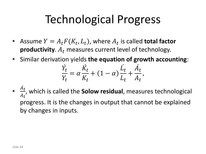Technological Progress