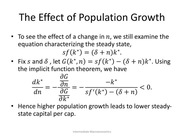 The Effect of Population Growth