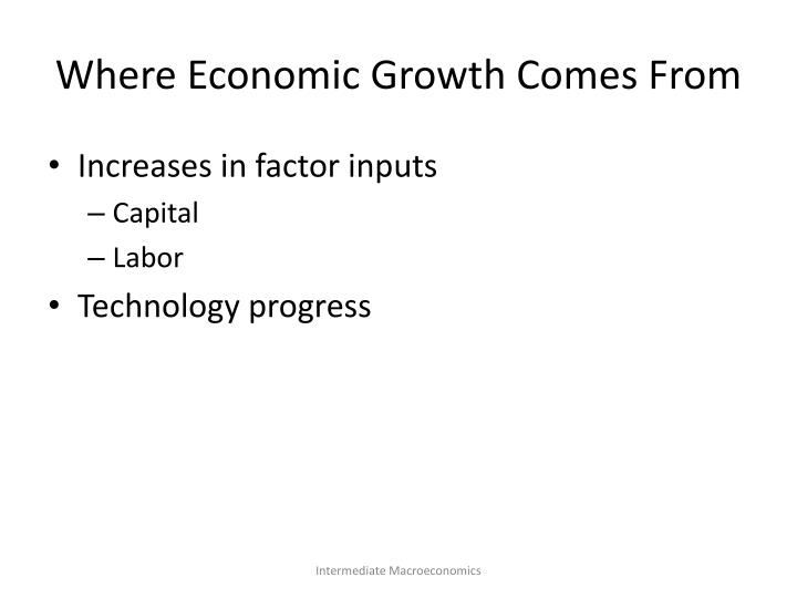 Where Economic Growth Comes From