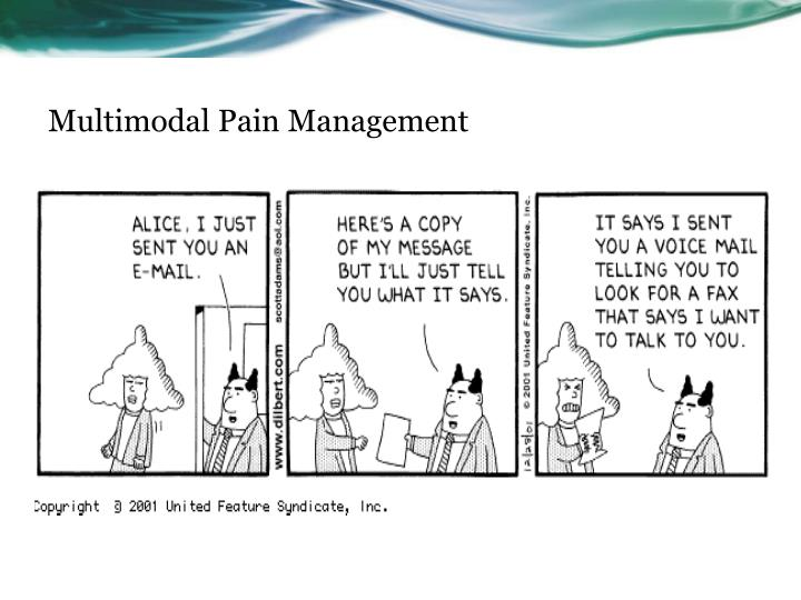 Ppt Thinking About Pain Multimodal Pain Management