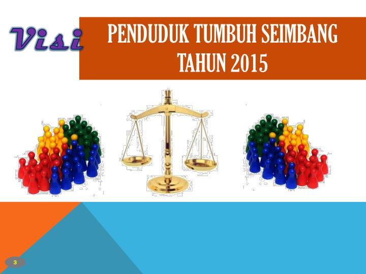 PENDUDUK TUMBUH SEIMBANG TAHUN 2015