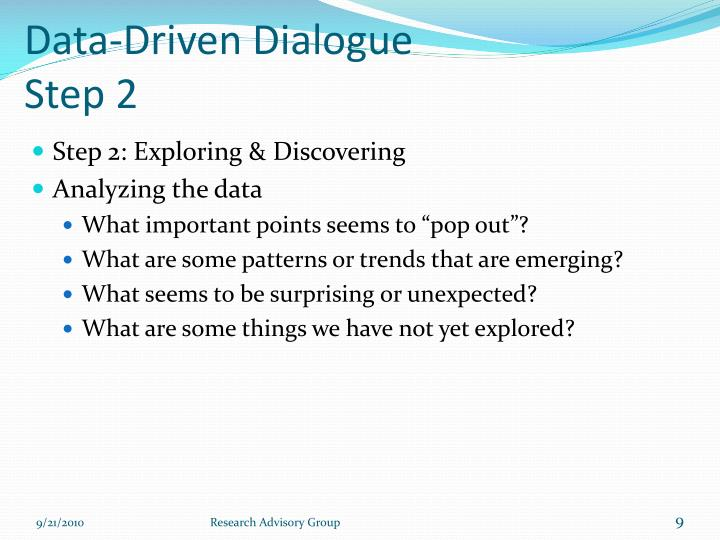 Data-Driven Dialogue