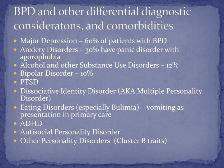 BPD and other differential diagnostic